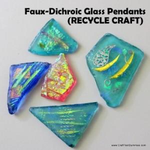 Faux Glass Pendant