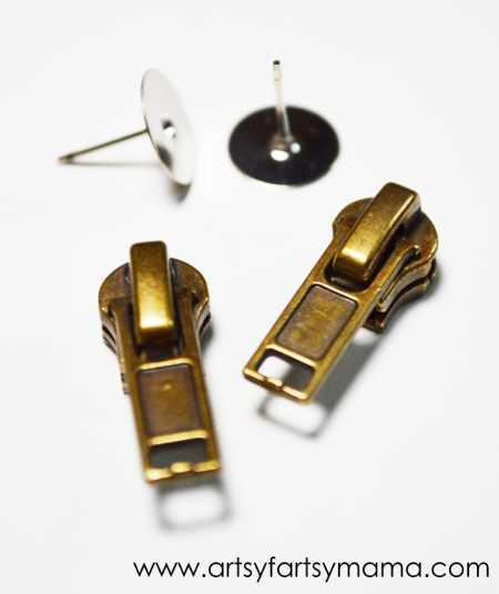 Zipper Earring Supplies