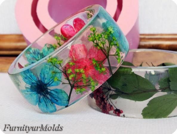 DIY Floral Transparent Bracelet