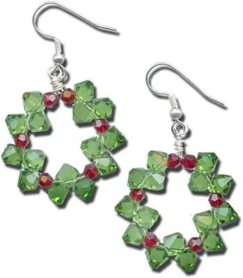 Diy Christmas Wreath Earrings