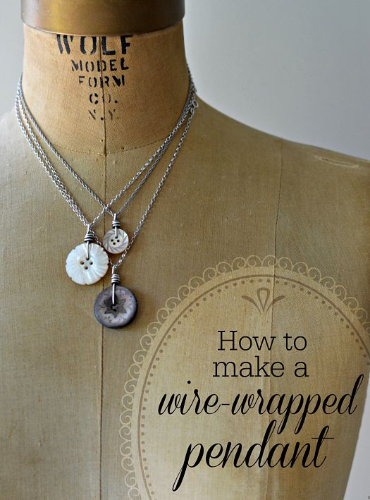 Vintage Buttons And Wire Wrapping