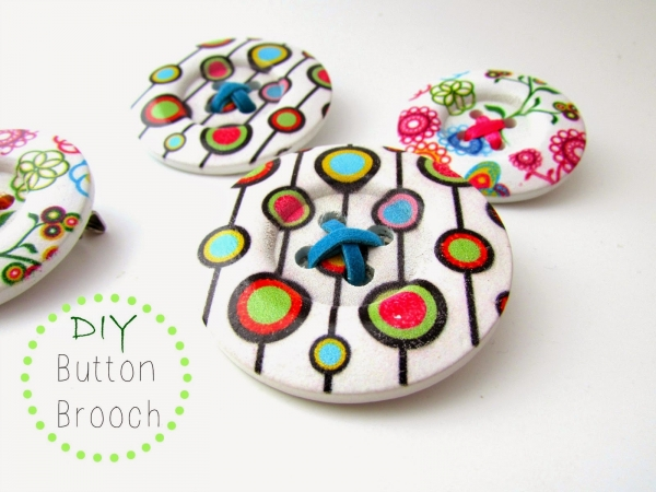tutorial button brooch crafting