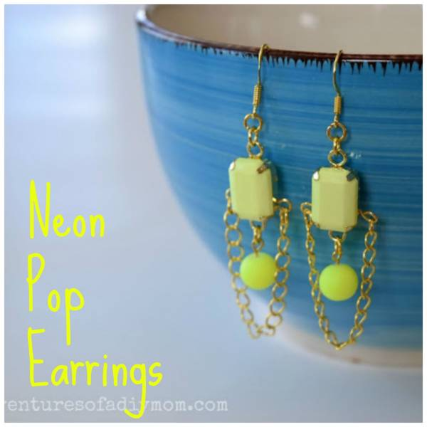 Neon Pop Yellow Earrings 2