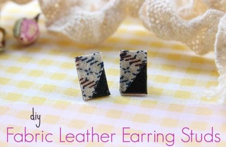 DIY Leather Earring Studs