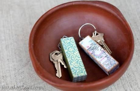 DIY Jenga Black Keychain
