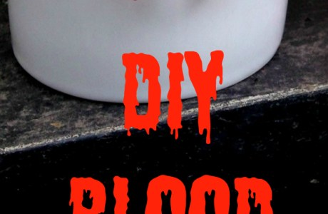 DIY Halloween Blood Drip Earrings