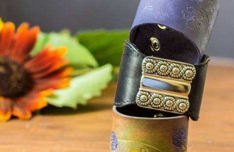 Up-cycled Belts in to Leather Cuffs