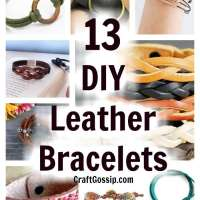 13 DIY Leather Bracelets