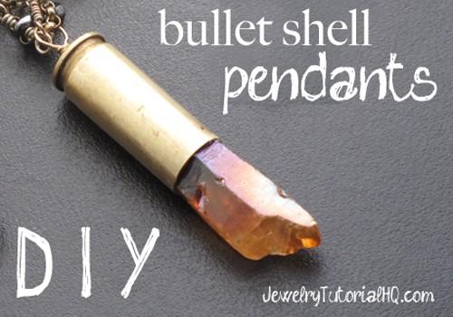DIY bullet shell pendants