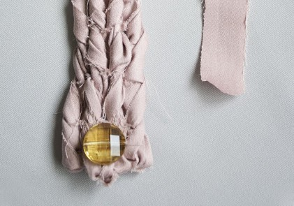 fabric rope bracelet - free jewelry tutorial