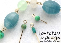 how to make simple wire loops - video jewelry tutorial