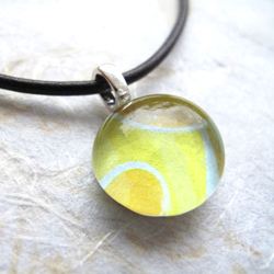 DIY fabric glass cabochon pendant tutorial