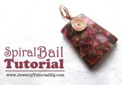 Spiral Bail Pendant Tutorial {Video}