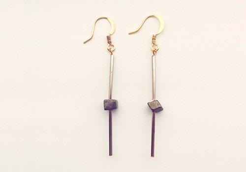 pyrite tube earring tutorial