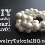 DIY chanel inspired chunky pearl bracelet