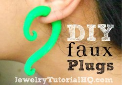 DIY faux ear plugs - polymer clay tutorial