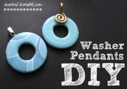 DIY Washer Pendants - jewelry making video tutorial
