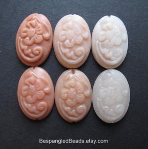 peach aventurine cabochon beads