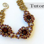 Beaded Bezel Chaton Bracelet Tutorial {Video}