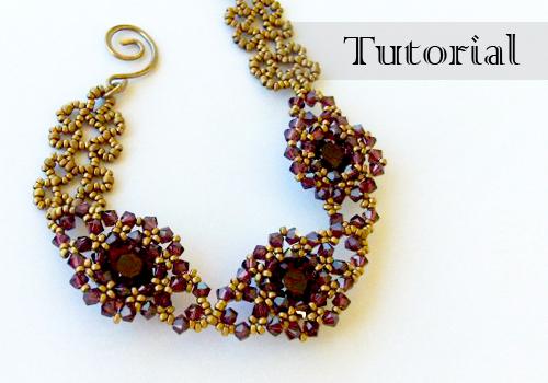 beaded bezel chaton bracelet tutorial video