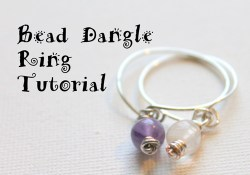 Beaded Wire Dangle Ring Tutorial