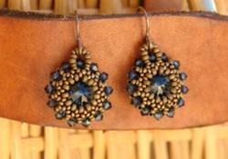 Free jewelry tutorial: Beautiful beaded rivoli earrings - video