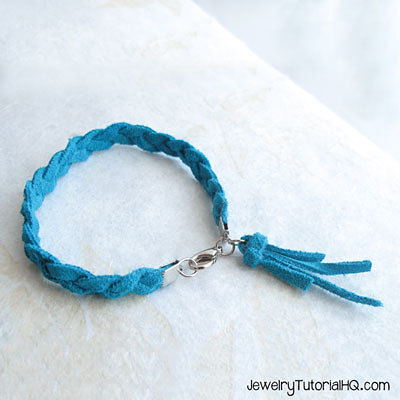 braided leather tassel bracelet tutorial video