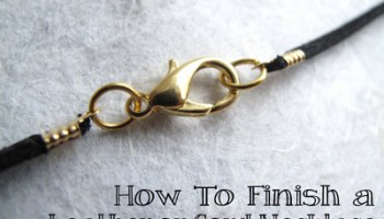 Diy 2 sided washer pendants video jewelry tutorial headquarters how to make a leather necklace video aloadofball Choice Image