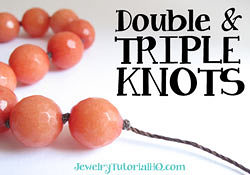 Cord Knotting Trick: Correct way to make double and triple knots