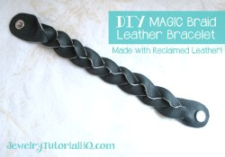 DIY Magic Braid Leather Bracelet {Video}