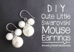 DIY beaded mouse pearl earrings