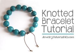 Knotted cord bracelet tutorial