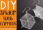DIY halloween spider web earrings {video tutorial}