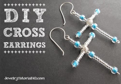 DIY Cross Earrings - Christmas Craft