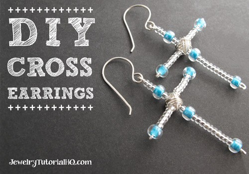 DIY Cross Earrings - Christmas Craft