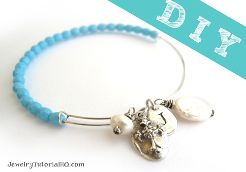 DIY adjustable wire bangle