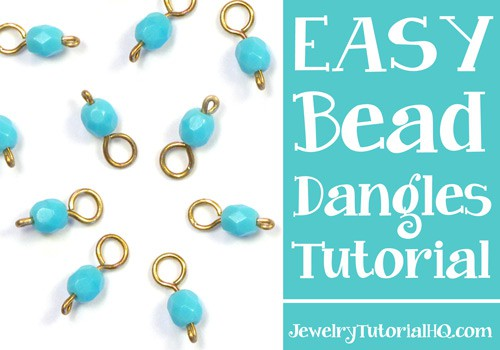 How to make bead dangles - simple headpin and beaded dangle tutorial from jewelrytutorialhq.com