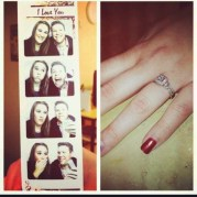 10. A proposal remembered with these photo booth pics during the moment!