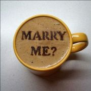 9. A cool way to propose over your favorite cup of coffee?