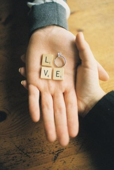5. Simple and sweet, with scrabble tiles.