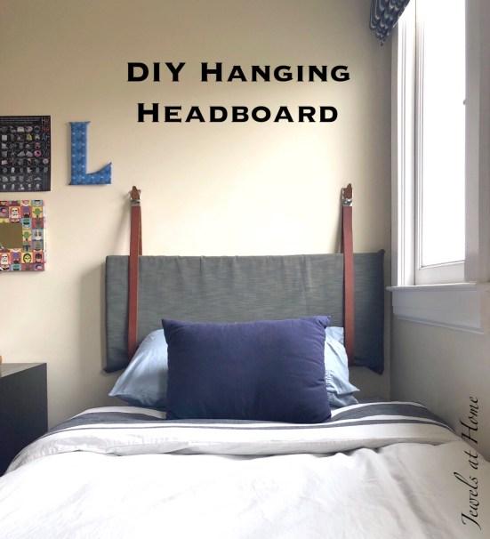 diy hanging pillow headboard jewels