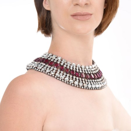 Alan Anderson Cleopatra Collar Necklace Amethyst