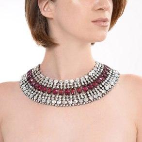 Alan Anderson Cleopatra Collar Necklace Amethyst