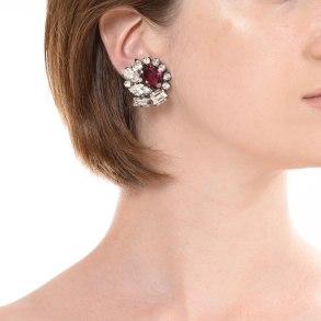 Alan Anderson Button Earrings Amethyst