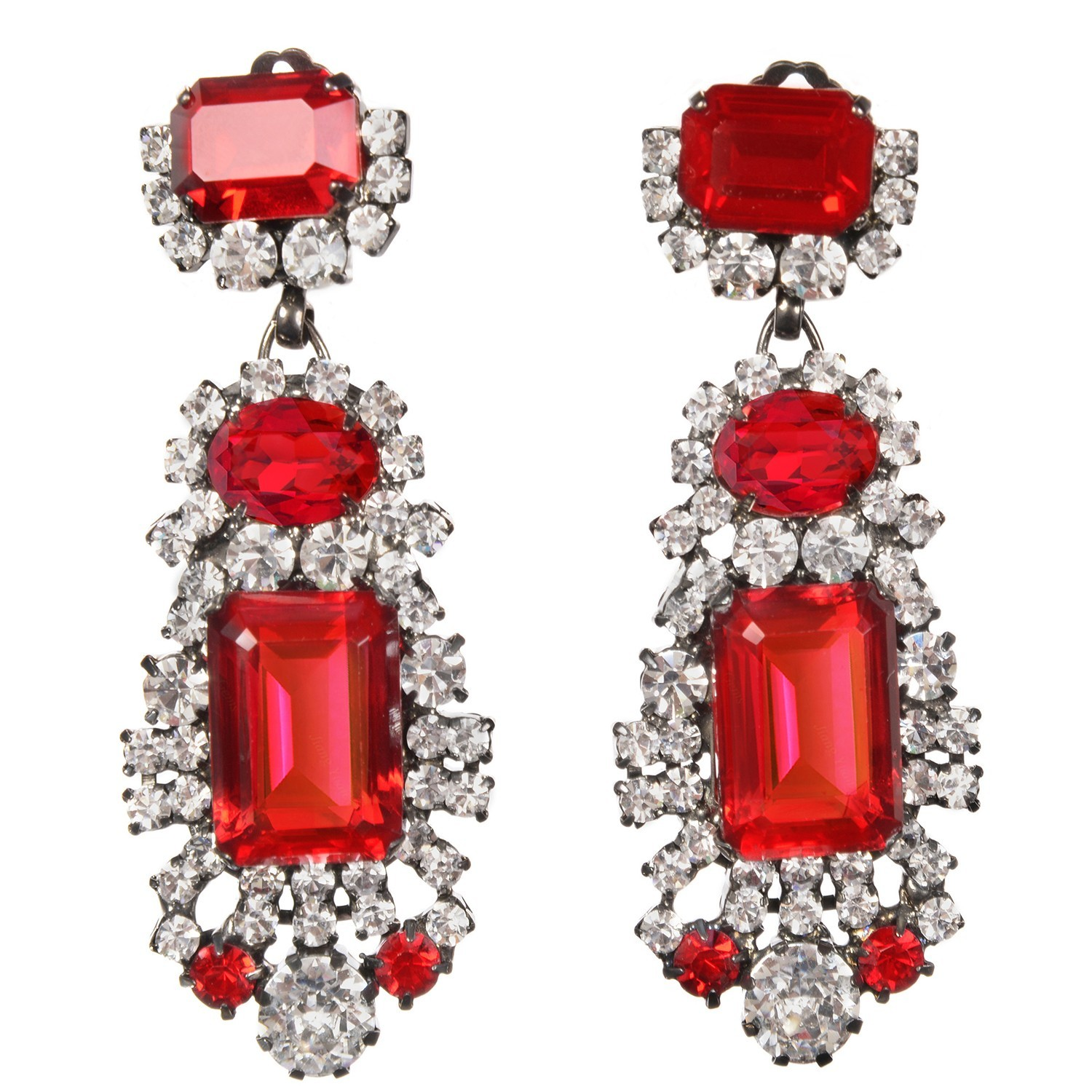 jewellery rose ruby diamonds tw gold in earrings with oval