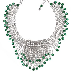Jewels by Alan Anderson Holiday Emerald Waterfall Necklace
