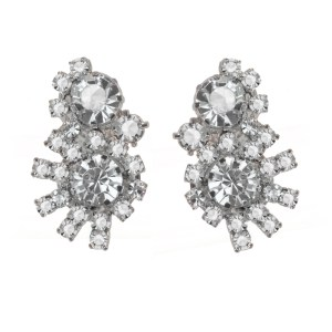 Jewels by Alan Anderson Holiday Crystal Button Earrings