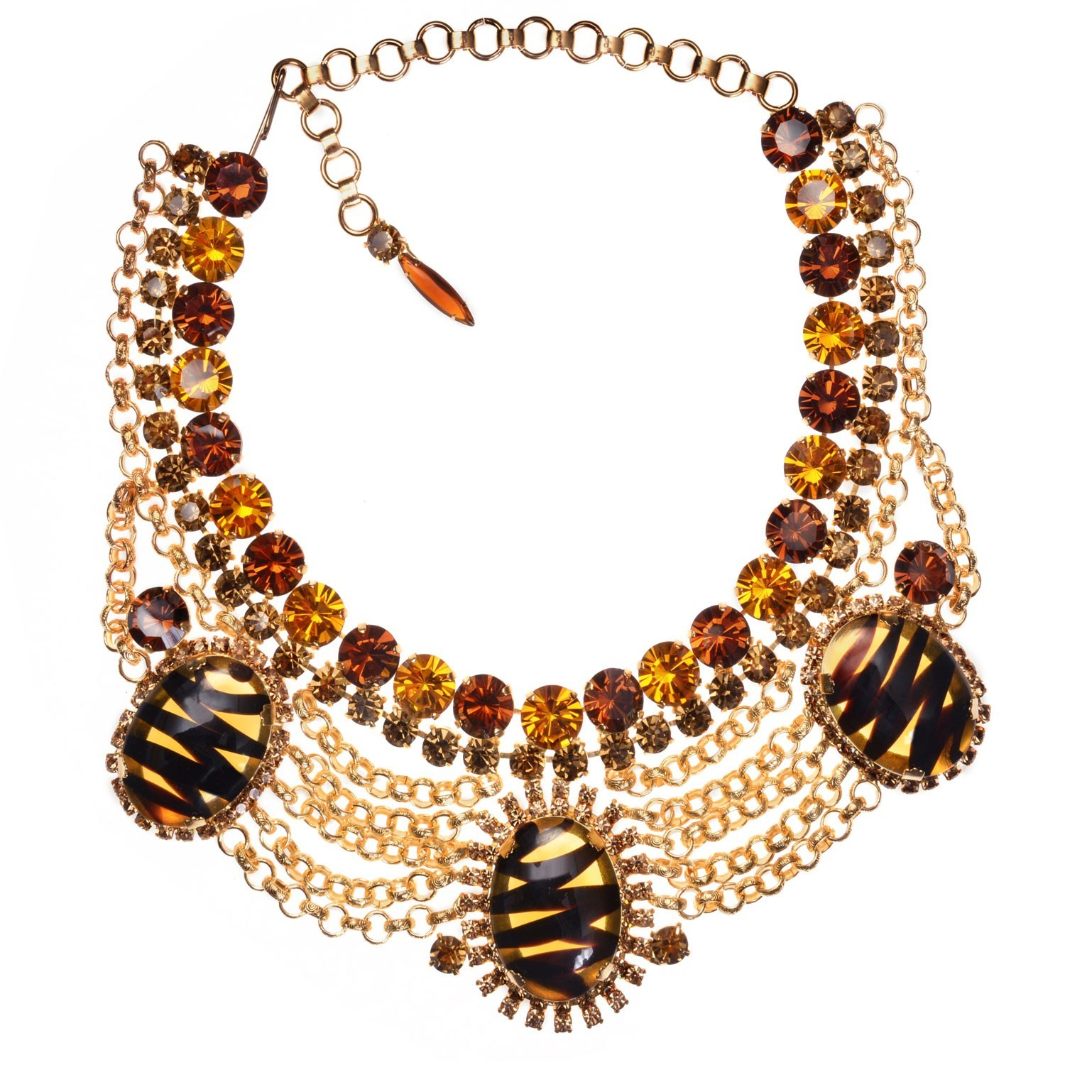 Topaz and Chain Bib Necklace ⋆ Jewels by Alan Anderson