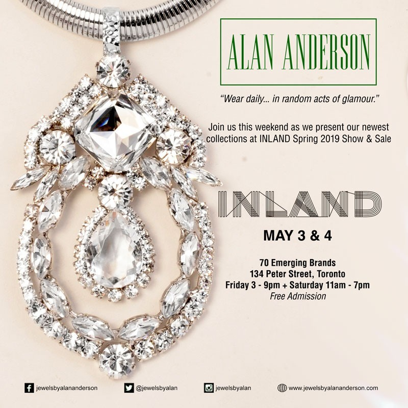 Join us this weekend as we present our newest collections at INLAND Spring 2019 Show & Sale May 3 & 4 at 134 Peter Street, Toronto.