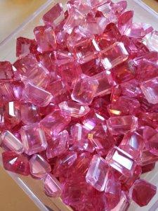 1950s pink Austrian crystal